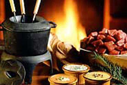 fondue bourguignonne au vin blanc